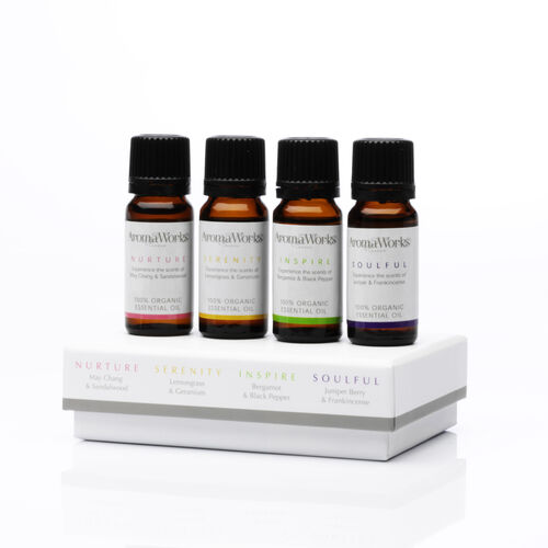AROMAWORKS- Box of Essential Oils -4 x 10ml