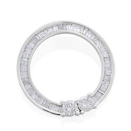 9K White Gold SGL Certified Diamond (Rnd) (I3 G-H) Circle of Life Pendant 1.000 Ct.