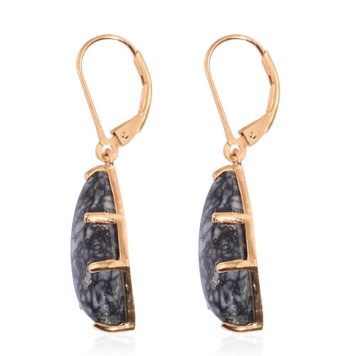Austrian Pinolith (Kite) Lever Back Earrings in 14K Gold Overlay Sterling Silver 14.750 Ct.
