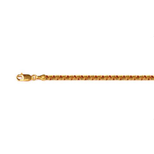 JCK Vegas Collection 22K Yellow Gold Box Chain Size 20 Inch, 16.20 Gms.