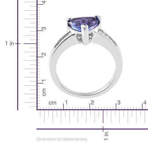 ILIANA 18K White Gold 2.75 Ct AAA Tanzanite, Diamond (SI/G-H) Ring