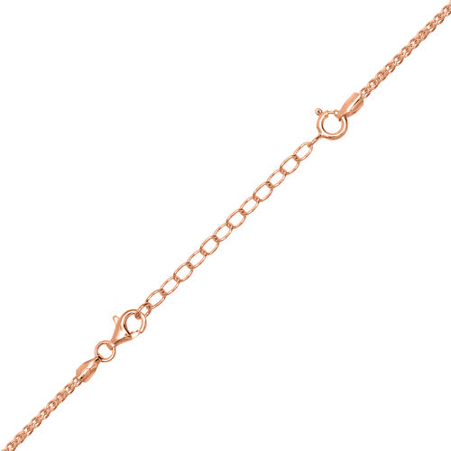 Set of 3 - Rose Gold Overlay Sterling Silver Chain Extenders (Size 2 Inch, 3 Inch and 4 Inch)