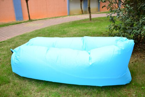 Blue Colour Self Inflating Air Lounger with Carry Pouch