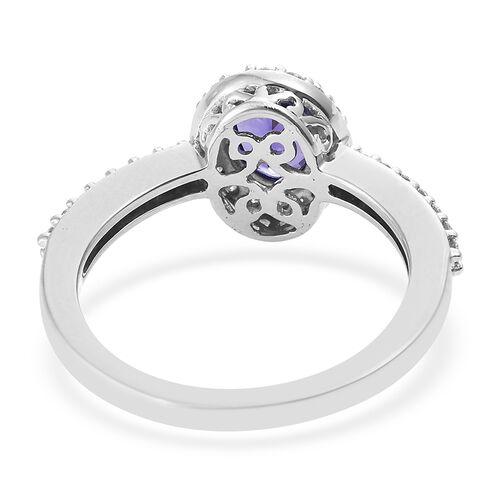 ILIANA 18K White Gold 1.15 Ct AAA Tanzanite, Diamond (SI/G-H) Ring