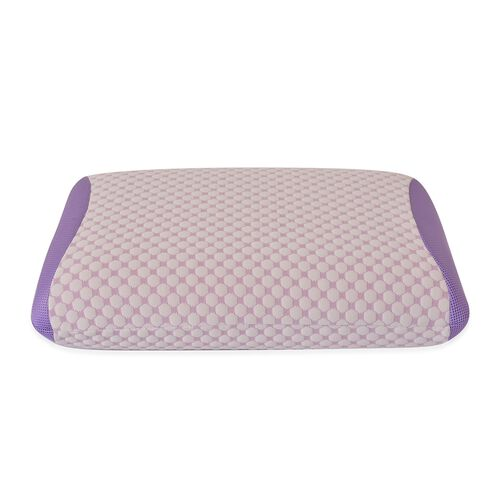 Aroma Therapy Lavender Infused Memory Foam Air Flow Pillow (Size 60x45 Cm)