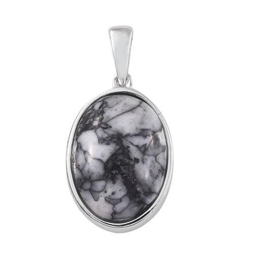 Austrian Pinolith (Ovl) Pendant in Platinum Overlay Sterling Silver 12.750 Ct.