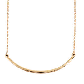 Smile Necklace in 14K Gold Overlay Sterling Silver Necklace (Size 18)