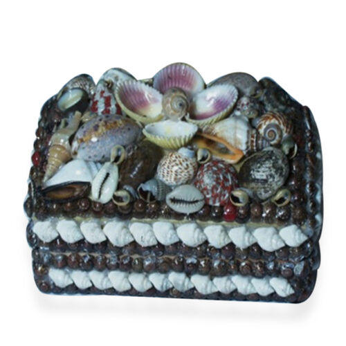 (Option 2) Royal Bali Collection Sea Shell Trinket Box (Size 15x11)