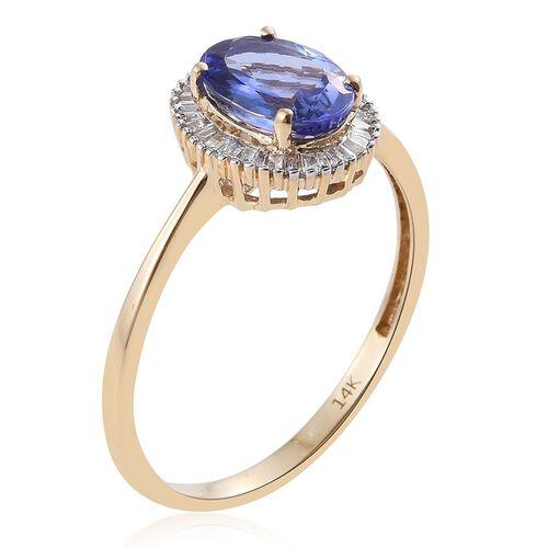 New York Collection 14K Y Gold AA Tanzanite (Ovl 2.00 Ct), Diamond Ring 2.250 Ct.