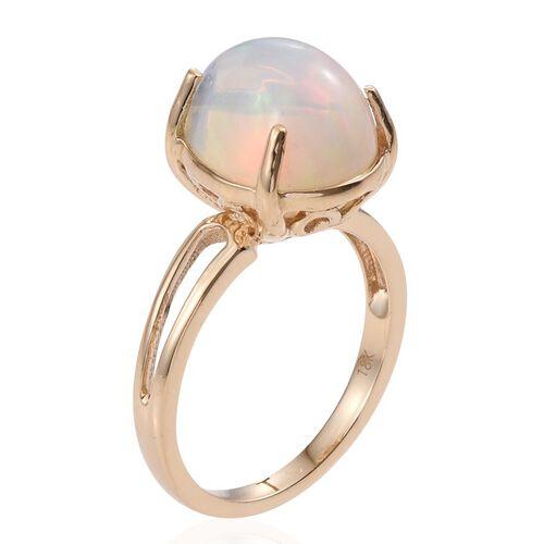 ILIANA 18K Y Gold AAA Ethiopian Welo Opal (Pear) Solitaire Ring 5.750 Ct.