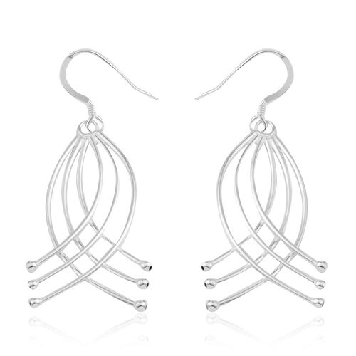 Sterling Silver Hook Earrings, Silver wt. 4.70 Gms.
