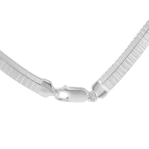 Vicenza Collection Rhodium Plated Sterling Silver Cleopatra Necklace (Size 17), Silver wt 24.54 Gms.
