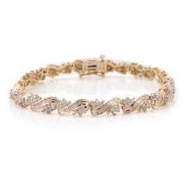 Tuscon Collection 9K Y Gold Diamond Bracelet (Size 7.25) 3.00 Ct. Gold Wt 10.90 Gms.