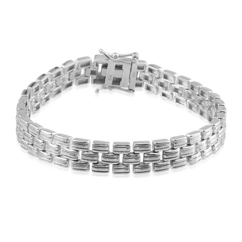 ION Plated Platinum Bond Bracelet (Size 7.5)