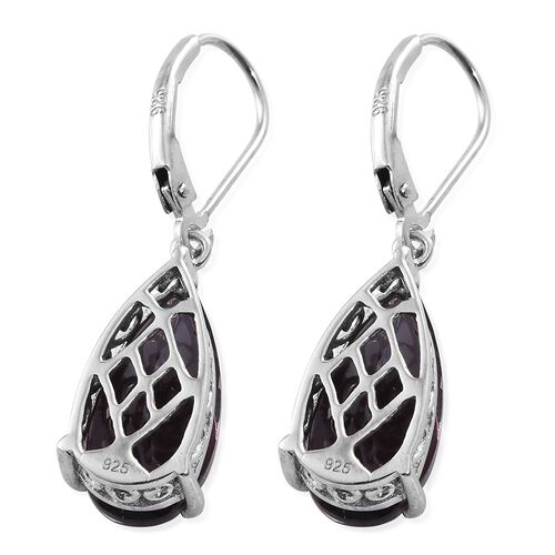 Alexandria Quartz (Pear) Lever Back Earrings in Platinum Overlay Sterling Silver 8.750 Ct.