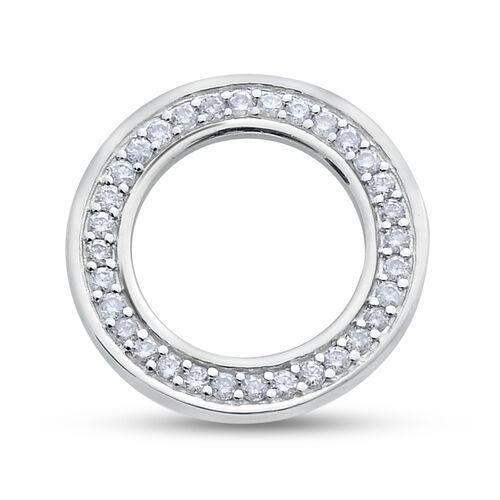 9K W Gold SGL Certified Diamond (Rnd) (I3/G-H) Circle of Life Pendant 0.250 Ct.