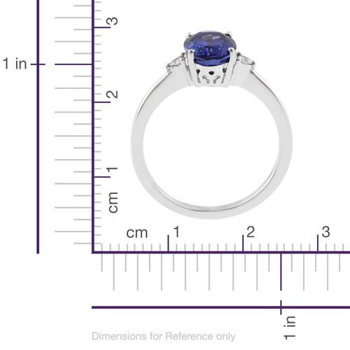 RHAPSODY 950 Platinum 2.07 Ct AAAA Tanzanite Ring with Diamond VS E-F