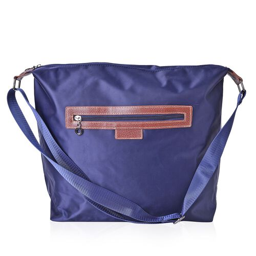 Kingston Classic Navy Water Resistant Crossbody Bag with Adjustable Shoulder Strap (Size 38X34X32X12.5 Cm)