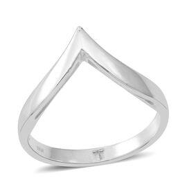 Thai Sterling Silver Wishbone Ring, Silver wt 3.10 Gms.