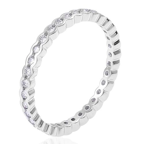 RHAPSODY 950 Platinum IGI Certified 0.50 Ct Diamond VS/F Full Eternity Ring