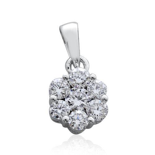RHAPSODY 950 Platinum IGI Certified Diamond (Rnd) (VS/E-F) Floral Pendant 0.500 Ct.