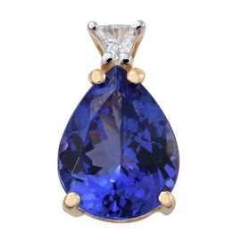 ILIANA 18K Yellow Gold 2.40 Ct AAA Tanzanite with Diamond (SI G-H) Pendant