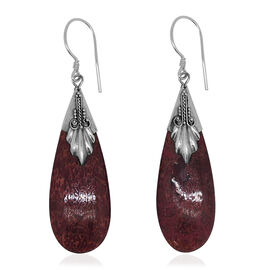 Royal Bali Collection Sponge Coral Hook Earrings in Sterling Silver 14.000 Ct.
