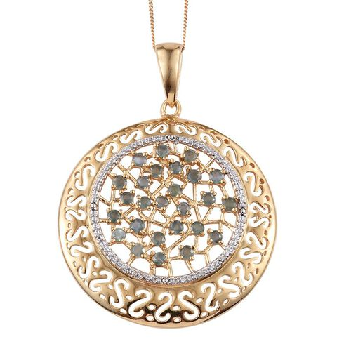 Narsipatnam Alexandrite (Rnd) Pendant With Chain (Size 18) in 14K Gold Overlay Sterling Silver 1.750 Ct.