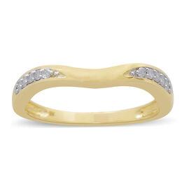 9K Yellow Gold 0.10 Carat Diamond Ring SGL Certified (I3/G-H)