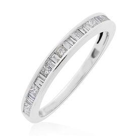 ILIANA 18K White Gold 0.50 Carat IGI Certified Diamond (SI/G-H) Half Eternity Band Ring