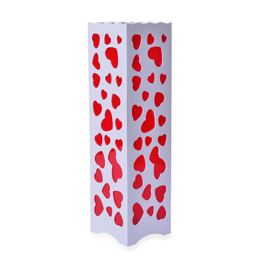 Home Decor Red Colour Heart Pattern White Led Lamp Size