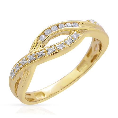 9K Yellow Gold 0.10 Carat SGL Certified Diamond (Rnd) (I3/G-H) Infinity Ring