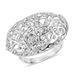 RACHEL GALLEY Rhodium Plated Sterling Silver Pebble Ring, Silver wt 9.76 Gms.