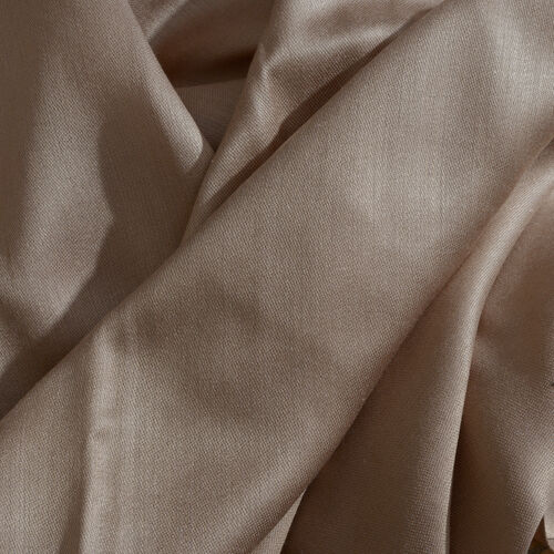 Beige Colour Reversible Scarf with Fringes (Size 200x70 Cm)