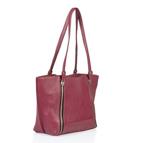 Premium Collection 100% Genuine Leather Burgundy Colour RFID Protected Shoulder Bag (Size 40x23x13 Cm)