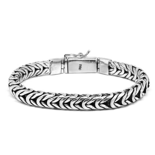 Royal Bali Collection Sterling Silver Borobudur Bracelet (Size 7.5), Silver wt 49.06 Gms.