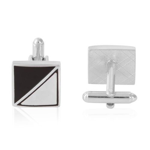 Triangle Cufflink in Silver Bond
