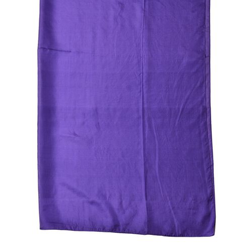100% Mulberry Silk Patrician Purple Colour Scarf (Size 175X90 Cm)