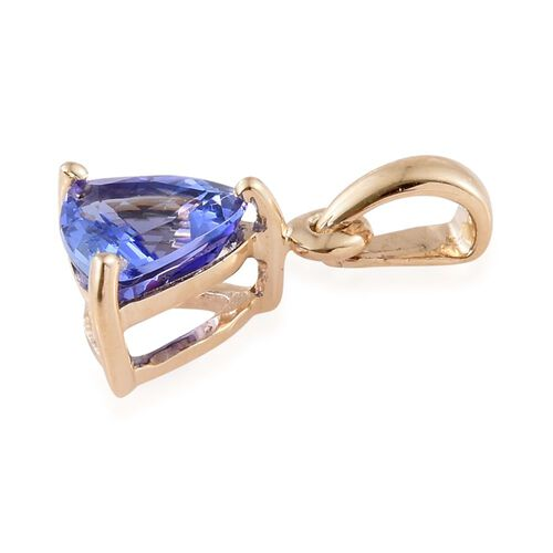 14K Yellow Gold AA Tanzanite (Trl) Solitaire Pendant 1.250 Ct.