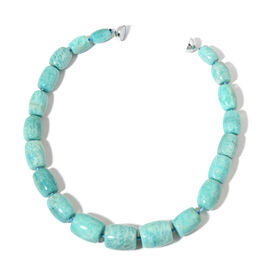 Only 40 Ever Made- AAA Rare Russian Amazonite Necklace (Size 20) in Rhodium Plated Sterling Silver with Magnetic Clasp1079.000 Ct.