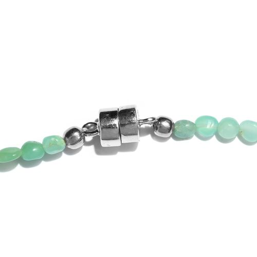 Rainbow Opal Bead Necklace (Size 18) in Sterling Silver with Magnetic Clasp 40.000 Ct.