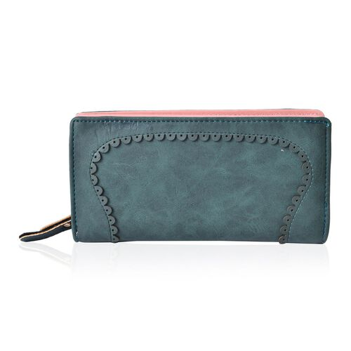 Dark Green Colour Long Size Wallet (19x9x3 Cm)