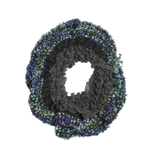 Black, Blue and Multi Colour Scarf (Free Size)