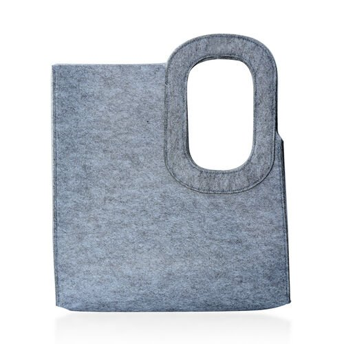 Grey Colour Felt Bag