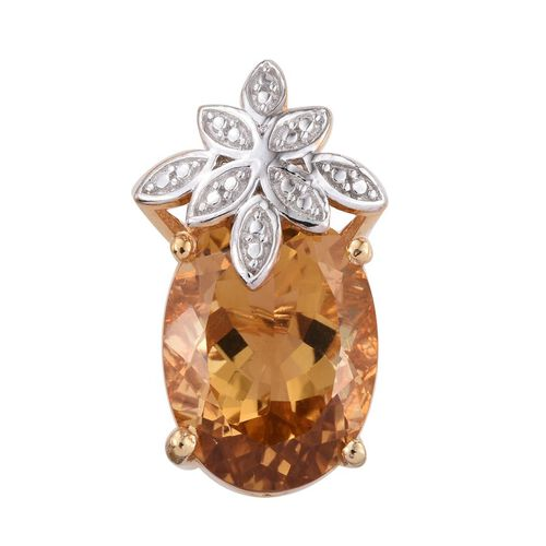 Citrine (Ovl) Pendant in 14K Gold Overlay Sterling Silver 7.750 Ct.