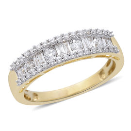 ILIANA 18K Yellow Gold IGI Certified Diamond (SI/G-H) Ring 0.500 Ct.