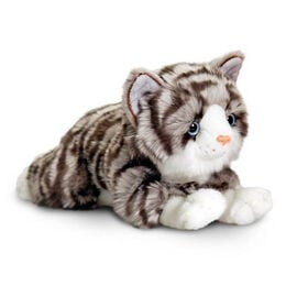 Keel Toys - Grey and White Colour Kitten with Red Collar (30 Cm)