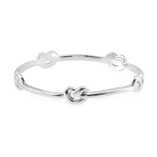 ION Plated Platinum Bond Knot Bangle (Size 7.5)