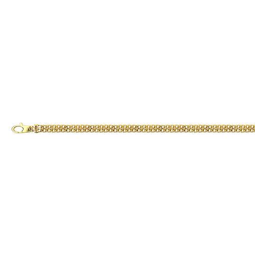 9K Yellow Gold Double Curb Bracelet (Size 7.5), Gold wt 4.16 Gms.