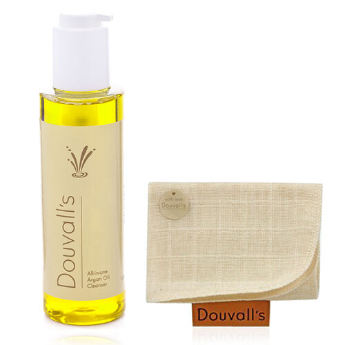 Alicia Douvall Argan Oil All in One Cleanser 150ml with Muslin Cloth- Estimated delivery within 5-7 working days